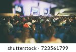 a lot of young people in a big... | Shutterstock . vector #723561799