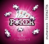 vector illustration on a casino ... | Shutterstock .eps vector #723562756