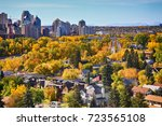 downtown. calgary. alberta.... | Shutterstock . vector #723565108