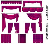 curtains and draperies interior ...   Shutterstock .eps vector #723565384