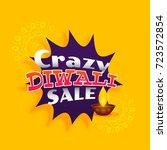 crazy diwali sale vector... | Shutterstock .eps vector #723572854