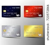 modern credit card set template ...   Shutterstock .eps vector #723572866