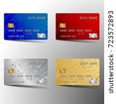 modern credit card set template ... | Shutterstock .eps vector #723572893