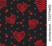 Heart Seamless Pattern  Heart...