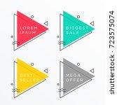 set of triangle shape banner... | Shutterstock .eps vector #723575074