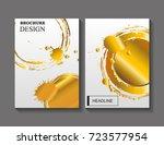 vector grunge brochure design... | Shutterstock .eps vector #723577954