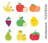 cute fruit vector. | Shutterstock .eps vector #723578104