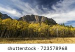 distant yamnuska mountain ... | Shutterstock . vector #723578968