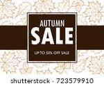 vector illustration of autumn... | Shutterstock .eps vector #723579910