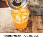 orange soft drinks | Shutterstock . vector #723583366