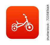 tricycle icon digital red for... | Shutterstock .eps vector #723585664