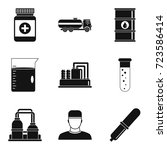 manufacture of chemicals icons... | Shutterstock .eps vector #723586414
