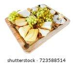 gouda cheese  brie  wensleydale ... | Shutterstock . vector #723588514