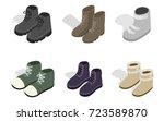 winter autumn boots icon set.... | Shutterstock .eps vector #723589870