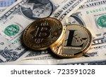 bitcoin and litecoin over...   Shutterstock . vector #723591028