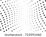 abstract halftone wave dotted... | Shutterstock .eps vector #723591460