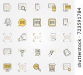 barcode colorful icons set.... | Shutterstock .eps vector #723591784