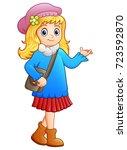 vector illustration of cute... | Shutterstock .eps vector #723592870