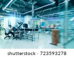 scientist is working in a... | Shutterstock . vector #723593278