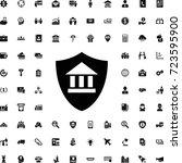 bank insurance icon . set of... | Shutterstock .eps vector #723595900