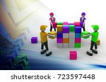 3d illustration of  people in... | Shutterstock . vector #723597448