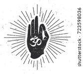 vector illustration of hand in... | Shutterstock .eps vector #723598036