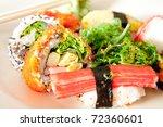 Delicious Sushi Janpanese food. - stock photo