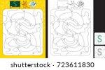 worksheet for practicing letter ... | Shutterstock .eps vector #723611830