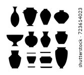 pottery icon set | Shutterstock .eps vector #723614023