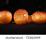 Turnip Lanterns at Richterswil's Turnip festival - stock photo