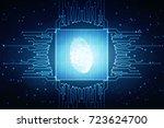 fingerprint scanning technology ... | Shutterstock . vector #723624700