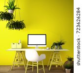 interior design for working... | Shutterstock . vector #723626284