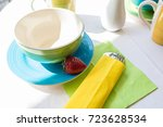 tea cup on a table | Shutterstock . vector #723628534