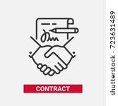contract   modern vector single ... | Shutterstock .eps vector #723631489