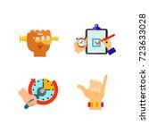 hand symbol icon set | Shutterstock .eps vector #723633028