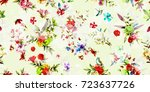 wide seamless floral background ... | Shutterstock .eps vector #723637726