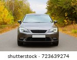 the car on the nature near... | Shutterstock . vector #723639274