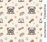 Pug Dog And Cat With Bone  Fis...