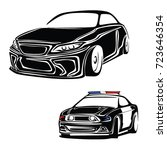 police car vector | Shutterstock .eps vector #723646354
