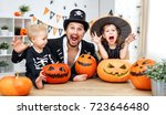 family father and children in... | Shutterstock . vector #723646480