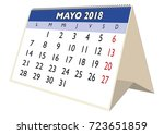 may sheet in an spanish desk... | Shutterstock .eps vector #723651859