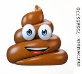 poop emoji isolated on white... | Shutterstock . vector #723653770