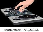 scratch musician | Shutterstock .eps vector #723653866