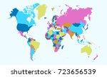 color world map | Shutterstock .eps vector #723656539