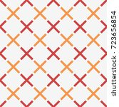 geometric seamless pattern with ... | Shutterstock .eps vector #723656854