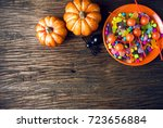 Colorful Of Halloween Candy...