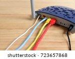modem router wifi wireless... | Shutterstock . vector #723657868