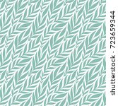 hand drawn pattern with... | Shutterstock .eps vector #723659344