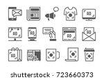 advertisement vector icons set. | Shutterstock .eps vector #723660373
