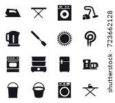 16 vector icon set   iron  iron ... | Shutterstock .eps vector #723662128